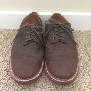 TOMS Other - TOMS Men's Brogue Shoes - Brown Canvas, size 11