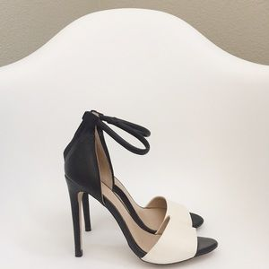 Zara Two-Piece Color Block Heels