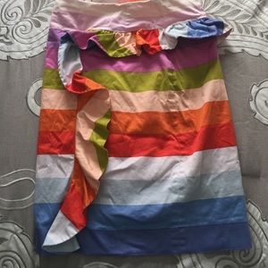 Sara Dresses & Skirts - Multi colored side ruffle pencil skirt.