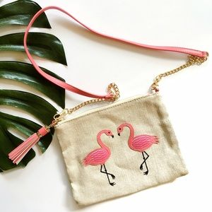 Francesca's Collections Handbags - Francesca's flamingo clutch