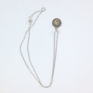 DYTt4 Live love laugh silver pendant