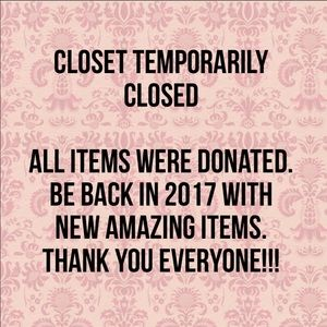 Accessories - Closet Temporarily Closed