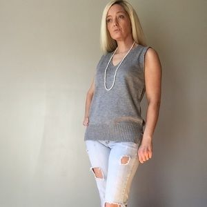 Boutique Sweaters - Gray Vest Sweater