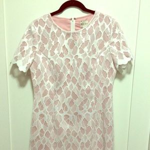 Anise ivory/pink lace dress from Reiss!