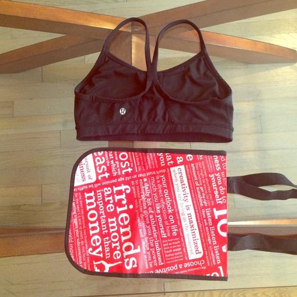 dcf4ee774d lululemon athletica Other - Lululemon Flow Y Bra size 6 with bag