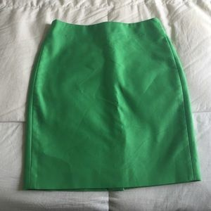 J. Crew No. 2 Pencil Skirt in Green