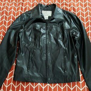 Jackets & Blazers - Womens black Faux leather jacket