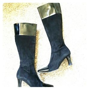 Joan & David Shoes - 💖Sale💖Black Suede High Heel Boots