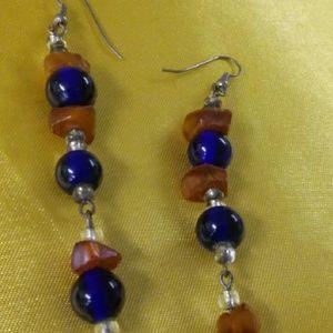 Vintage beads dangle drop earrings