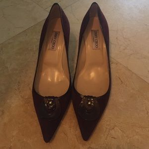 Jimmy choo size 41 maroon suede pumps