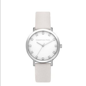 NWT Christian Paul Leather 35mm Watch
