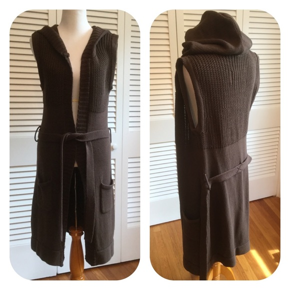 If It Were Me - Chocolate Brown Cotton Blend Long Cardigan from ...