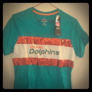 Miami Dolphins Women's Touchdown Queen T-shirt.