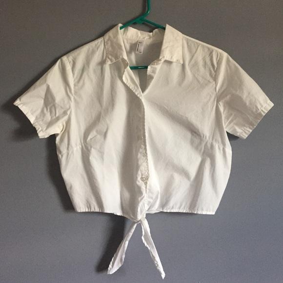 366e995ad7b3 American Apparel Tops - Adorable American Apparel tie waist crop top!