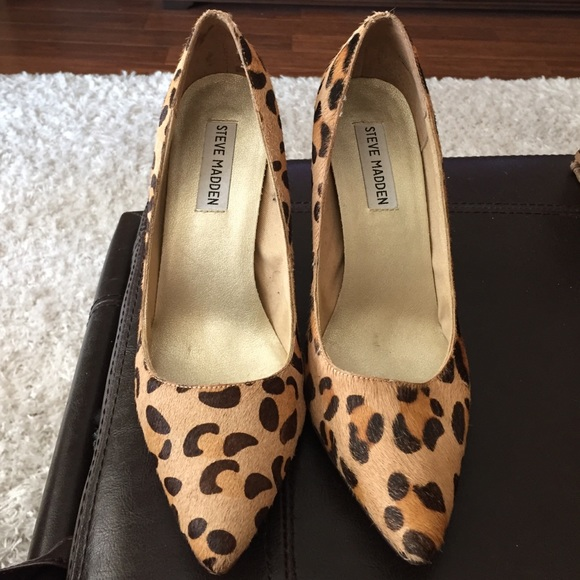Steve Madden animal print shoes