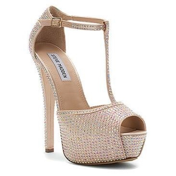 f249ec9c2 Steve Madden Shoes | Angelina Rhinestone Platform Pump | Poshmark