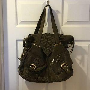 Large junior drake leather handbag