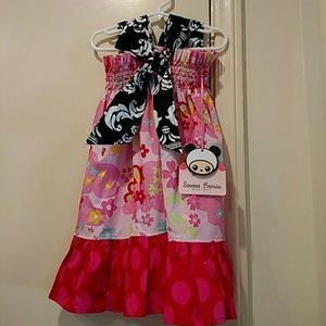 New Servane Barrau 4-5 boutique dress pink flower