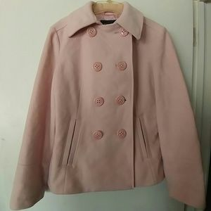 Express Jackets & Blazers - 💕🌷HP 💚SOFT PINK EXPRESS PEA COAT SIZE 14 👓👠💕