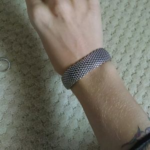 Tiffany & Co. Sterling Silver Somerset mesh bangle