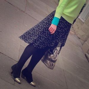 Zara High/Low Skirt with Star Print