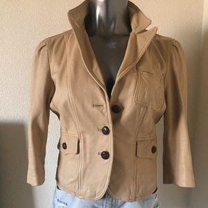 bebe Jackets & Blazers - Bebe 3/4 Sleeve Leather Jacket