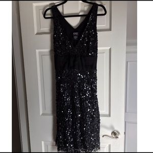 Black sequin Adrianna Papell dress