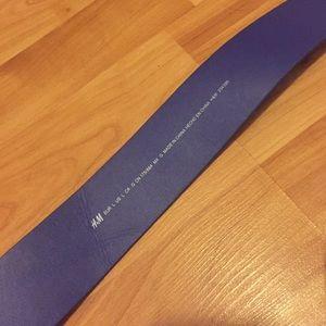 H&M Accessories - Royal blue faux suede belt. Size L