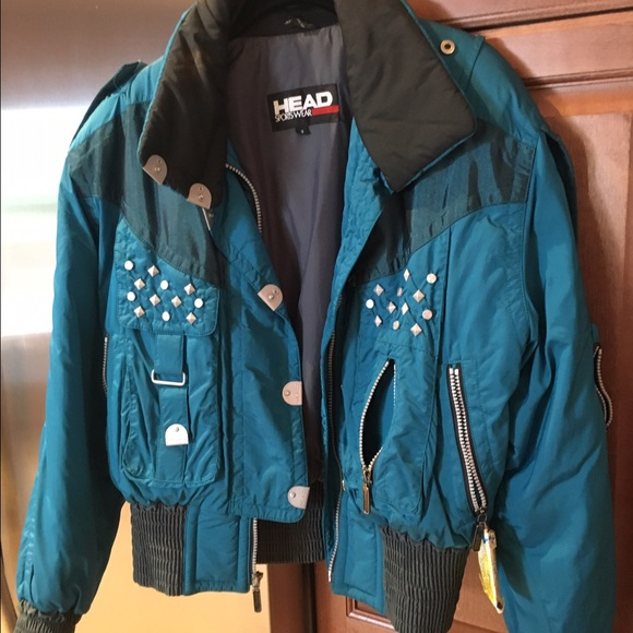 Head Sportswear Jackets   Blazers - Head sz 8 Vintage studded ski jacket  MAKE OFFER e94660630