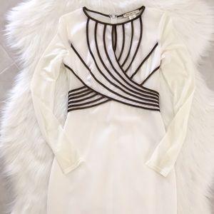 Arden B Dresses & Skirts - White & Bronze Midi Dress, size XS