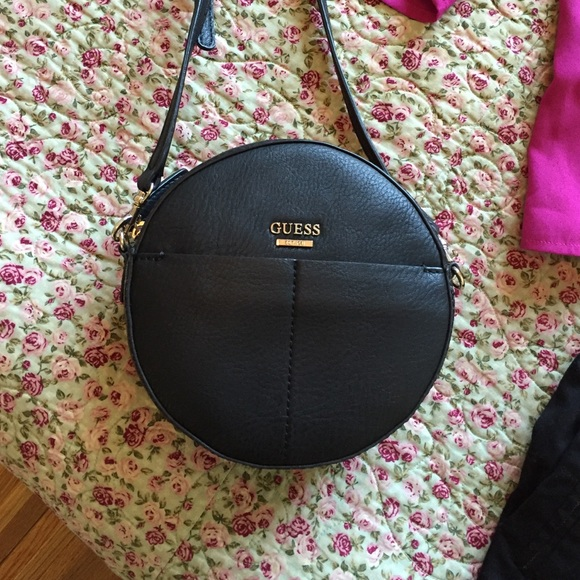 9bac3ebcf3 Guess Handbags - Small round black guess crossbody bag