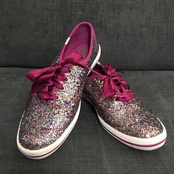f3c68cb37adb kate spade Shoes - Multi glitter keds for kate spade