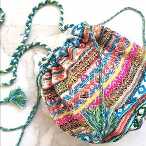 NEW Multicolor Gypsy puff crossbody
