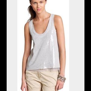 J Crew Tissue Sequin Embellished Tank Top