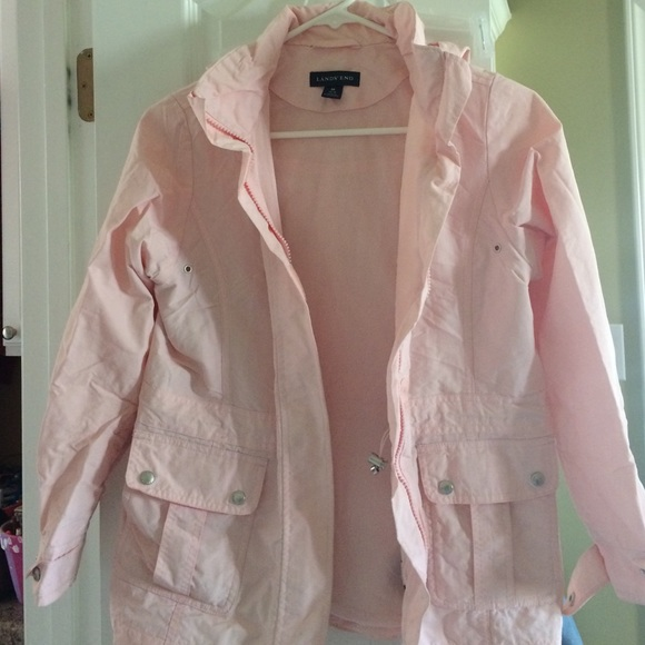 69% off Lands' End Other - Girls medium light pink rain jacket ...