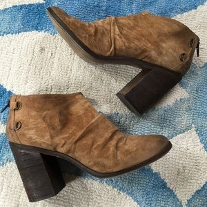 Boutique 9 Tan Suede Booties