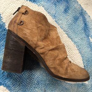 Boutique 9 Shoes - Boutique 9 Tan Suede Booties
