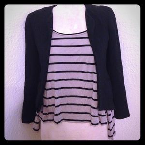 Wilfred Jackets & Blazers - Wilfred Double Crepe Black Cropped Blazer