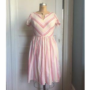 Eshakti pink pastel fit and flare dress sz 14
