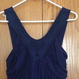 Delia's navy dress