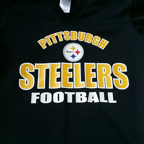 new products 3c489 5aa36 Pittsburgh Steelers Boys NFL Jersey Size Med 8-10