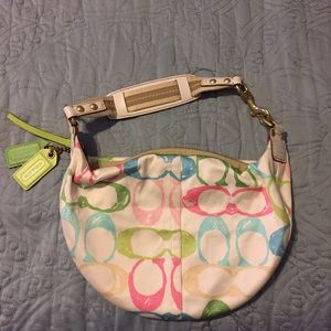 Hamptons Print Coach Purse
