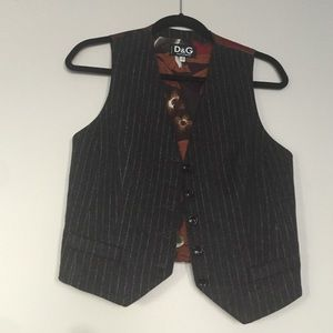 Dolce and Gabbana pinstripe vest