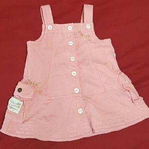 Ralph Lauren Pink Dress Floral Embroidery 9 months