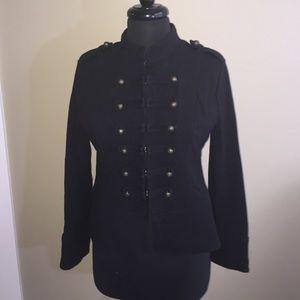 Sweet Romeo Jackets & Blazers - COMFY Military style black jacket size Large