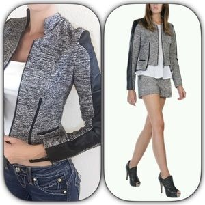 Stella & Jamie Jackets & Blazers - Stella & Jamie BRAND NEW Tweed leather jacket