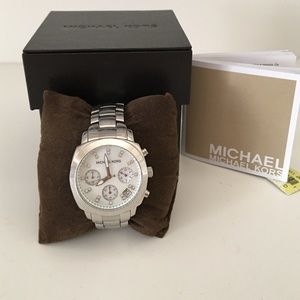 Silver Michael Kors Chronograph Watch