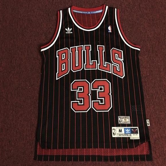 buy popular 94284 c81b8 Chicago Bulls Scottie Pippen Throwback Jersey