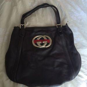 Gucci Handbags - SALE Authentic Gucci brown leather shoulder bag