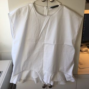 Zara Tops - Zara Woman off white ruffled top